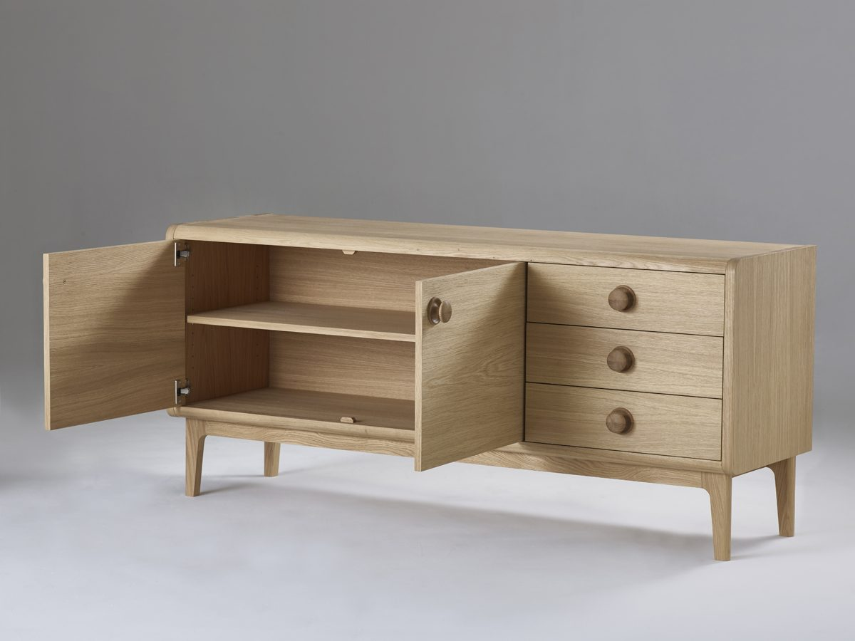 Collection 1 Mid Century inspired Contemporary Oak Sideboard